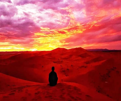 paseo en camello al atardecer Merzouga